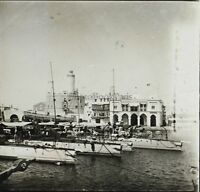 Algeria Port Algeri Placca Da Lente Stereo Vintage Ca 1920