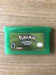 Nintendo Gameboy Pokemon Leaf Green Game Advance Sp Cartridge Free Postage Gba