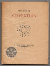 ADA NEGRI-VESPERTINA MONDADORI  1934 3° EDIZIONE-L3845