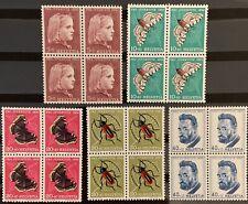 Série PRO JUVENTUTE 1953 : Blocs de 4 MNH** , Mi 588-592, Cote 50€