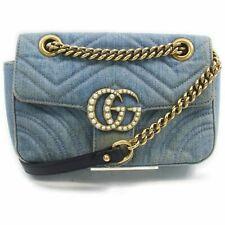 Gucci Shoulder Bag  Light Blue Denim 1505045