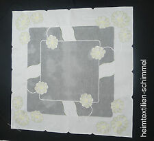 STICKEREI Tischdecke SOMMER Mitteldecke BLUMEN Tischdeckchen Decke BLÜTE 85x85cm