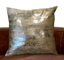 Luxurious Shiny Metalic Distressed Home Decor Pillows (18x18 inches) (Set of 2)
