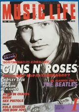 Music Life 1/1997 Japan Music Magazine Guns N' Roses Motley Crue Alice In Chains