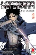 manga L'ATTACCO DEI GIGANTI BIRTH OF RIVAILLE N. 1-2 RISTAMPA completa planet