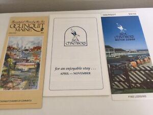 Vingate Oguinquit Maine Travel Brochure Pamphlet + Sea Chambers Restaurant Guide