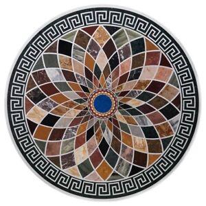 "36"" Marble center sofa Table Top Inlay Pietra Dura Handmade Work"