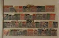Mixed Pre-Decimal Stamps (Australia) Arranged on Hanger