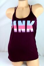 VICTORIA'S SECRET PINK SHIRT TANK TOP LOGO GRAPHIC SIZE SMALL NEW H86