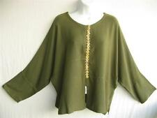 TIENDA HO~CACTUS~MOROCCAN COTTON~Asian Inspired Zawia Top~Free/OS (M L XL 1X?)