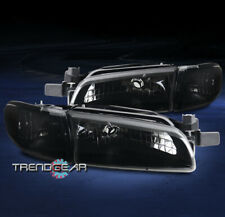 FOR 1997-2003 PONTIAC GRAND PRIX HEADLIGHT W/CORNER SIGNAL LAMP BLACK/SMOKE LENS