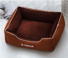 Cat and Dog Bed Cushion Sofa Bed Mat Free shipping Brown Removable cover