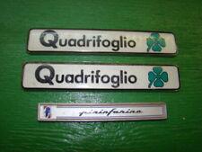 86-90 Alfa Romeo Spider Quadrifoglio Badges plus on Pinnifarina Badge