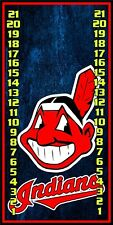 Cleveland Indians 0365 custom cornhole scoreboard score keeper with clips