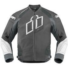 Blousons gris taille en cuir pour motocyclette
