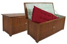 Auflagenbox Holz Gartenbox Kissenbox Gartentruhe Stuhlauflage Truhe Auflage
