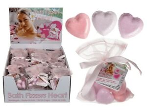 Love Heart Bath Bombs Bathing Fizzy Bombs Relaxing Romantic Valentines Day Gift