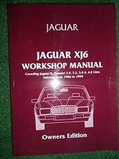JAGUAR & DAIMLER XJ6 XJ40 WORKSHOP SERVICE REPAIR MANUAL 2.9 3.2 3.6L 4.0L 86-94