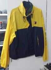 Mens tommy hilfiger jacket vintage yellow blue green pre owned sz xl
