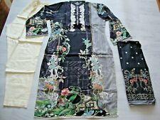 Firdous  Lawn Suit black Embroidered salwar kameez lawn dupatta new 2020