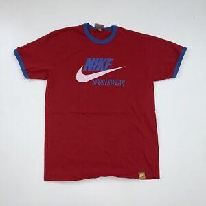 Vintage Nike Ringer T-Shirt Size Adult Medium Red