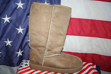 Airwalk Beige Suede Fleece Ankle Boots Size 7: shoes/bootie/casual/snow  #2531