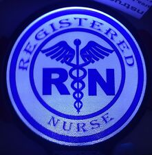 Registered Nurse Light Up Decal Powerdecal Backlit LED Motion Sensing Auto Decal