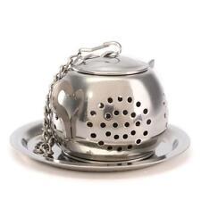 Hot Teapot Shape Stainless Steel Leaf Tea Infuser Filter Strainer Ball Spoon