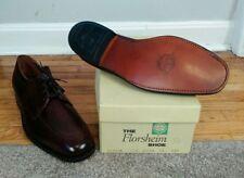 New NOS Vintage 70's Florsheim Oxford Pebble Grain Leather Dress Shoes 9.5 D