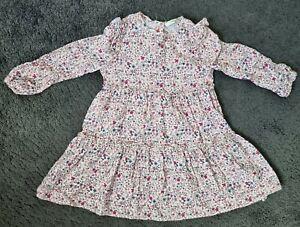 Girl's George Asda Long Sleeved Floral Dress - 3-4 Years