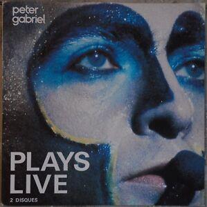 33t Peter Gabriel - Plays live (2 LP) - 1983