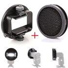 k9 Universal Mount Adapter  Honeycomb Grid Diffuser for Speedlight Flash Light