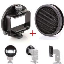 k9 Universal Mount Adapter + Honeycomb Grid Diffuser for Speedlight Flash Light