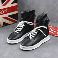 Mens Nightclub Lace Up Sneakers Hip-hop Sport Street High Top Shoes Breathable