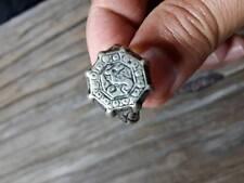 Islamic Ring ANTIQUE Nomadic carving INTAGLIO Deer vintage Men old arabic Sz 7.5