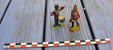 Lot de 2 soldats napoléoniens, peints en plastique anciens, sans marque,