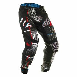 Motocross MX Trousers > Fly 2020 Lite Glitch Du Pont - Black/Red/Blue