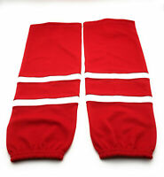 NEW Jersey Style K1 Custom Hockey Socks Red With White Stripe
