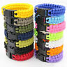 Survival Outdoor Buckle Rope Paracord Bracelet Camping Hiking Emergency Gear