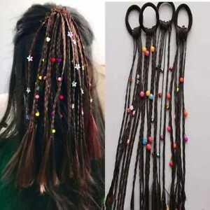 Girls Headband Twist Braids Rope Rubber Band Hair Accessories Kids Ponytail Wigs