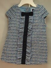 Baby Girls Infant Janie And Jack 3 to 6 Months Old 2 Piece Dress Blue & White