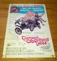 Clarence the Cross Eyed Lion Poster One Sheet Marshall Thompson Cheryl Miller