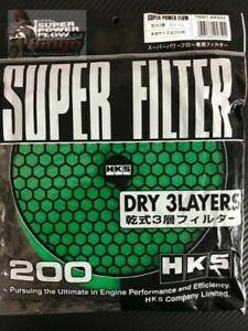 HKS Air Filter Replacement 200mm Green Dry 3 Layer Australian Stock