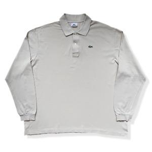 "Vintage LACOSTE Polo Shirt | Size 10 | 4XL XXXXL | Long Sleeve BIG 56"" Chest"