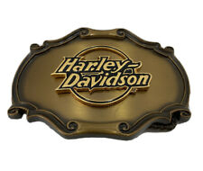 Vintage 70s Harley Davidson Script Circle Brass Belt Buckle Raintree NWOB 1978