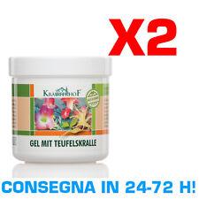 TEUFELSKRALLE KRAUTERHOF 2x500 ml Crema Pomata Gel Artiglio del Diavolo Mentolo