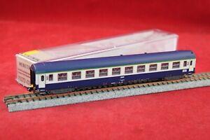 Minitrix 15373-02 SNCF Schnellzugliegewagen 2.Klasse blau Dach niedrig/NEU/OVP