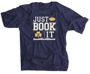 Just Book It Blue Gold Shirt - Ian Book Shamrock 12 Jersey - Notre Dame