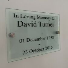 Personalised Glass Acrylic Memorial Grave Plaque