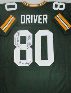 Packers DONALD DRIVER Signed Custom Replica Green Jersey AUTO w/ SB XLV - JSA